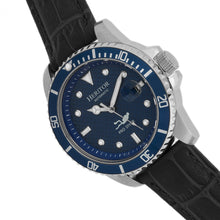 Load image into Gallery viewer, Heritor Automatic Lucius Leather-Band Watch w/Date - Silver/Blue - HERHR7809