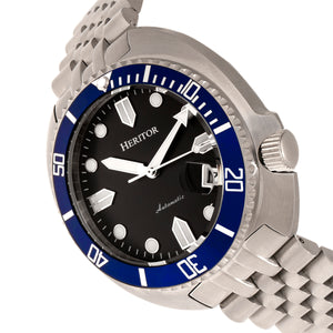 Heritor Automatic Matador Box Set with Interchangable Bands and Date Display - Blue/Silver - HERHR9304