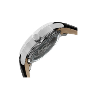 Heritor Automatic Ryder Skeleton Leather-Band Watch - BlackWhite - HERHR4601