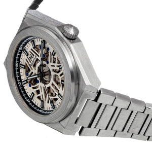 Heritor Automatic Atlas Bracelet Watch - White & Black - HERHS1305