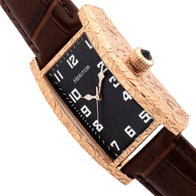 Load image into Gallery viewer, Heritor Automatic Jefferson Leather-Band Watch - Rose Gold/Black - HERHR8803