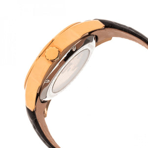 Heritor Automatic Windsor Semi-Skeleton Leather-Band Watch - Rose Gold/Black - HERHR4206