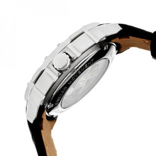Load image into Gallery viewer, Heritor Automatic Conrad Skeleton Leather-Band Watch - Silver - HERHR2503