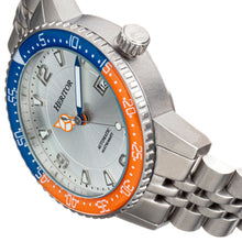 Load image into Gallery viewer, Heritor Automatic Dominic Bracelet Watch w/Date - Blue&Orange/Silver - HERHR9802
