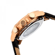 Load image into Gallery viewer, Heritor Automatic Kinser Leather-Band Watch w/Day/Date - Rose Gold/Black - HERHR2606