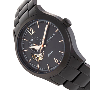 Heritor Automatic Antoine Semi-Skeleton Bracelet Watch - Black - HERHR8504