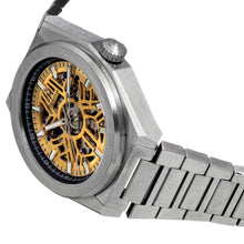 Load image into Gallery viewer, Heritor Automatic Atlas Bracelet Watch - Gold & Black - HERHS1302