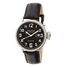 Load image into Gallery viewer, Heritor Automatic Olds Leather-Band Watch - Silver/Black/Black - HERHR3202