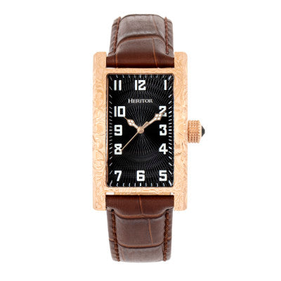 Heritor Automatic Jefferson Leather-Band Watch - HERHR8803