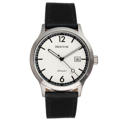 Heritor Automatic Becker Leather-Band Watch w/Date - HERHR9601