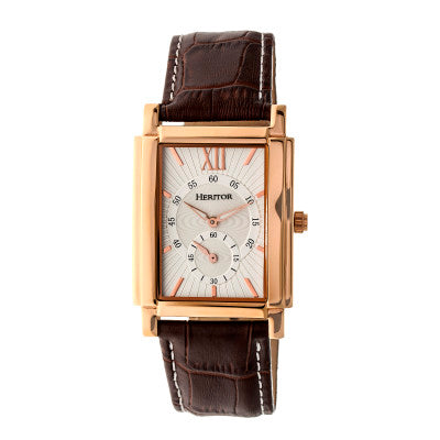 Heritor Automatic Frederick Leather-Band Watch - HERHR6104