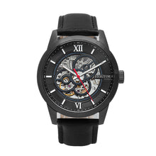 Load image into Gallery viewer, Heritor Automatic Jonas Leather-Band Skeleton Watch - Black - HERHR9506