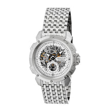 Load image into Gallery viewer, Heritor Automatic Conrad Skeleton Bracelet Watch - Silver - HERHR2501