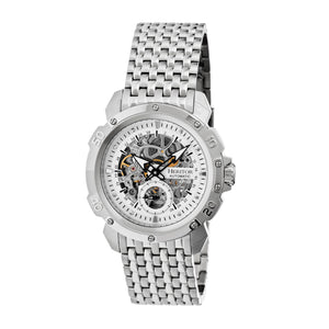 Heritor Automatic Conrad Skeleton Bracelet Watch - Silver - HERHR2501