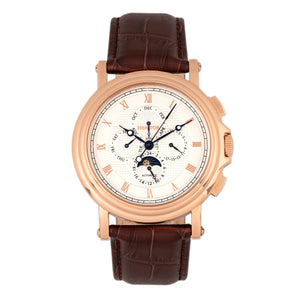Heritor Automatic Kingsley Leather-Band Watch w/Day/Date - Rose Gold/White - HERHR4809