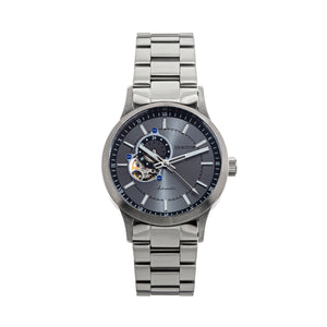Heritor Automatic Oscar Semi-Skeleton Bracelet Watch - Grey/Silver - HERHS1008