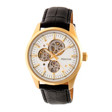 Load image into Gallery viewer, Heritor Automatic Stanley Semi-Skeleton Leather-Band Watch - Gold/Silver - HERHR6505