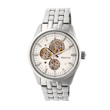 Load image into Gallery viewer, Heritor Automatic Stanley Semi-Skeleton Bracelet Watch - Silver - HERHR6501