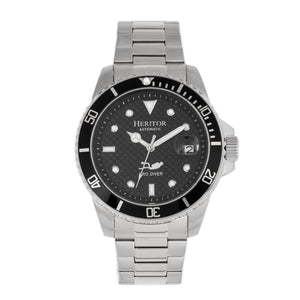 Heritor Automatic Lucius Bracelet Watch w/Date - Silver/Black - HERHR7802