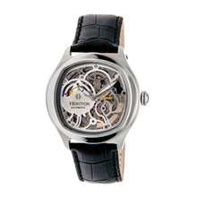Load image into Gallery viewer, Heritor Automatic Odysseus Leather-Band Skeleton Watch - Silver - HERHR3703