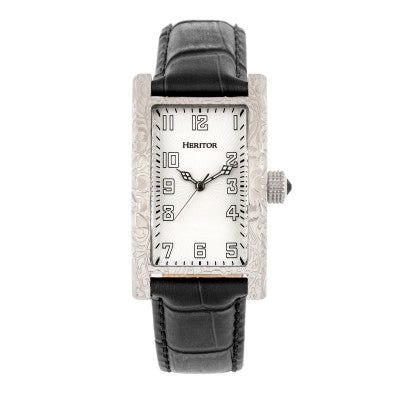 Heritor Automatic Jefferson Leather-Band Watch - HERHR8802