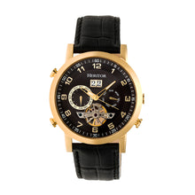 Load image into Gallery viewer, Heritor Automatic Edmond Leather-Band Watch w/Date - Gold/Black - HERHR6204
