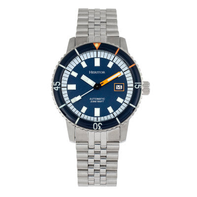 Heritor Automatic Edgard Bracelet Diver's Watch w/Date - HERHR9103