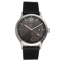 Load image into Gallery viewer, Heritor Automatic Becker Leather-Band Watch w/Date - Silver/Charcoal - HERHR9604