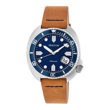 Load image into Gallery viewer, Heritor Automatic Morrison Leather-Band Watch w/Date - Camel/Blue - HERHR7607