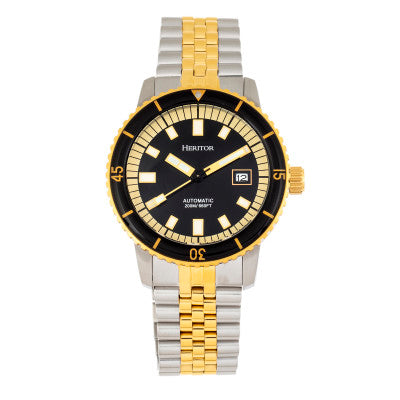 Heritor Automatic Edgard Bracelet Diver's Watch w/Date - HERHR9105