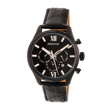 Load image into Gallery viewer, Heritor Automatic Benedict Leather-Band Watch w/ Day/Date - Black - HERHR6805