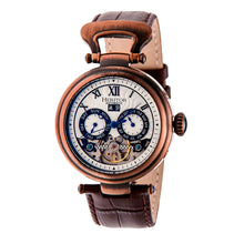 Load image into Gallery viewer, Heritor Automatic Ganzi Semi-Skeleton Leather-Band Watch - Bronze - HERHR3308
