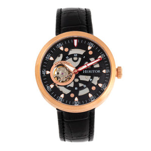 Heritor Automatic Jasper Skeleton Bracelet Watch