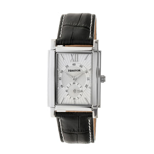 Heritor Automatic Frederick Leather-Band Watch - Silver - HERHR6101