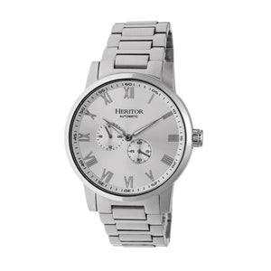 Heritor Automatic Romulus Bracelet Watch - Silver - HERHR6401