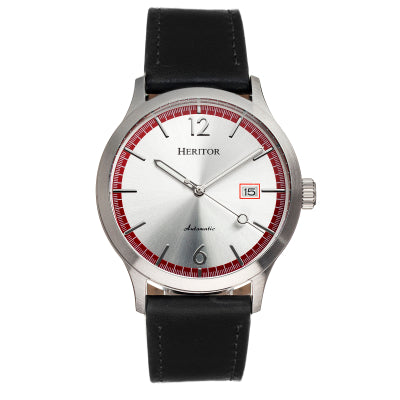 Heritor Automatic Becker Leather-Band Watch w/Date - HERHR9602