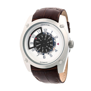 Heritor Automatic Daniels Semi-Skeleton Leather-Band Watch - Silver - HERHR7404