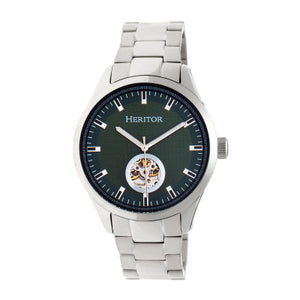 Heritor Automatic Crew Semi-Skeleton Men's Watch