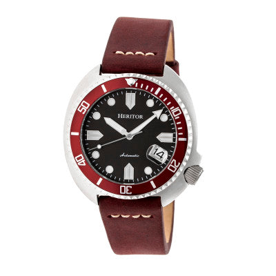 Heritor Automatic Morrison Leather-Band Watch w/Date - HERHR7604