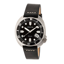 Load image into Gallery viewer, Heritor Automatic Morrison Leather-Band Watch w/Date - Black/Silver - HERHR7601