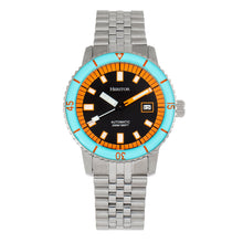 Load image into Gallery viewer, Heritor Automatic Edgard Bracelet Diver's Watch w/Date - Light Blue/Black - HERHR9102