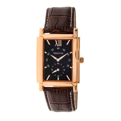 Heritor Automatic Frederick Leather-Band Watch - HERHR6105