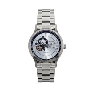 Heritor Automatic Oscar Semi-Skeleton Bracelet Watch - Silver - HERHS1007