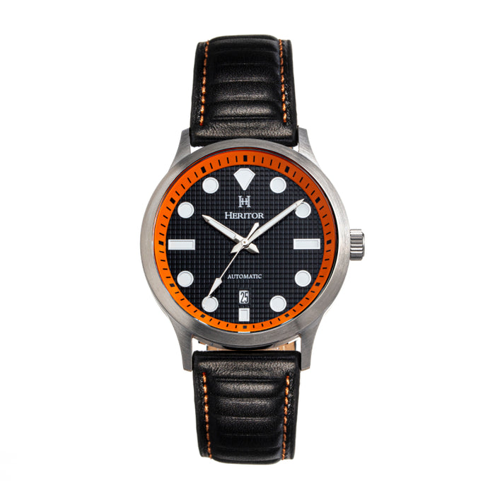 Heritor Automatic Bradford Leather-Band Watch w/Date - HERHS1105