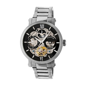 Heritor Automatic Aries Skeleton Dial Bracelet Watch - Silver/Black - HERHR4402