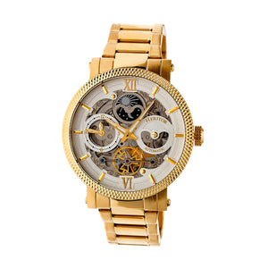 Heritor Automatic Aries Skeleton Dial Bracelet Watch - Gold/Silver - HERHR4403