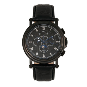 Heritor Automatic Kingsley Leather-Band Watch w/Day/Date - Black - HERHR4810