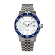 Load image into Gallery viewer, Heritor Automatic Dominic Bracelet Watch w/Date - Blue/Silver - HERHR9801