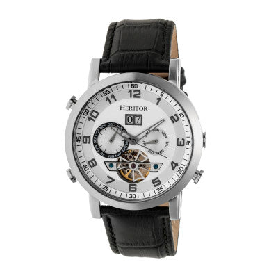 Heritor Automatic Edmond Leather-Band Watch w/Date - HERHR6201