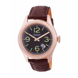Heritor Automatic Barnes Leather-Band Watch w/Date